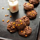 Chocolate-Reeses-Pieces-Pudding-Cookies-8