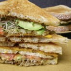 Cheese, Tomato & Tofu Sandwich with Avocados