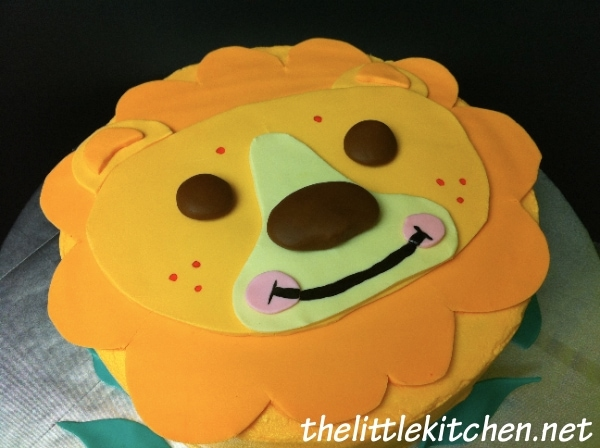 Pleasant A Lion Birthday Cake The Little Kitchen Funny Birthday Cards Online Overcheapnameinfo