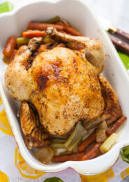 Whole Chicken in a Slow Cooker from TheLittleKitchen.net