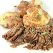 Classic Roast Beef & Smashed Red Potatoes