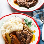 French Onion Pot Roast (Slow Cooker Recipe) from thelittlekitchen.net