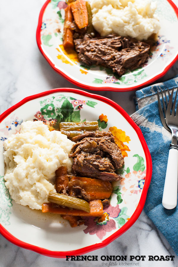 French Onion Pot Roast (Slow Cooker) Recipe | The Little ...