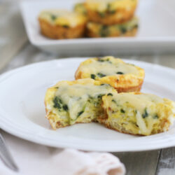 Spinach Dubliner Cheese Egg Cups from thelittlekitchen.net