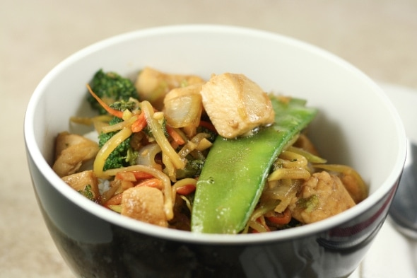 Easy ginger garlic chicken stir fry the little kitchen dinner forumfinder Images