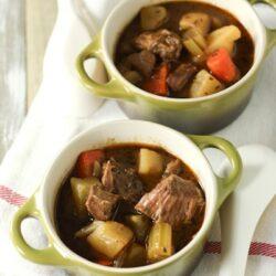 Irish Beef Stew (Slow Cooker) from thelittlekitchen.net