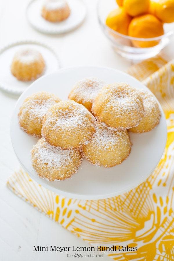 Mini Meyer Lemon Bundt Cakes The Little Kitchen