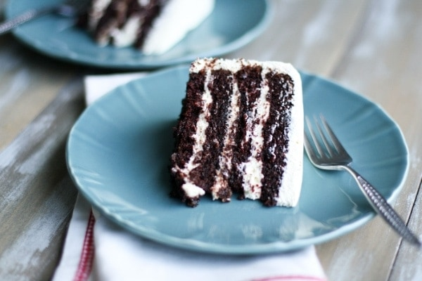 The Best Chocolate Cake Ever with Pudding Frosting | The Little ...