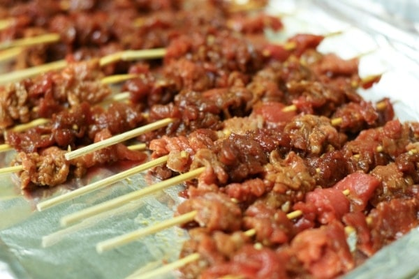 Korean Red Pepper Paste Beef Skewers with an Asian Pear ...
