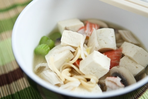 Quick Tofu Ramen Noodle Soup | the little kitchen
