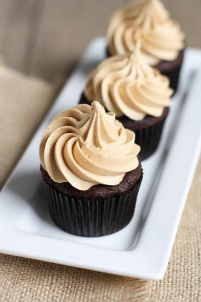 chocolate cupcakes with plain flour
