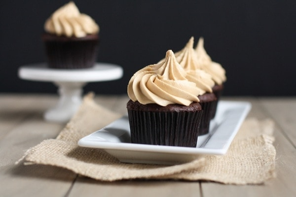 Chocolate Cupcakes with Biscoff Buttercream Icing | The Little Kitchen