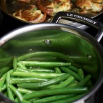Garlic and Olive Oil Sauteed Green Beans from thelittlekitchen.net