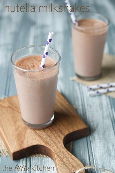 Nutella Milkshake Recipe | the little kitchen
