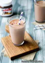 Nutella Milkshakes from thelittlekitchen.net