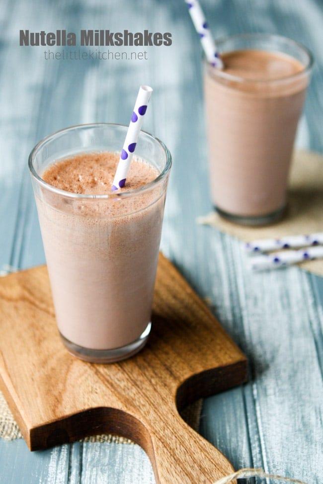 Nutella Milkshakes from thelittlekitchen.net