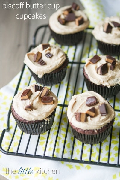 Biscoff Butter Cup Cupcakes | The Little Kitchen