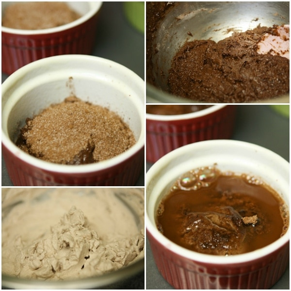 Mexican Hot Chocolate Cupcakes Step Collage