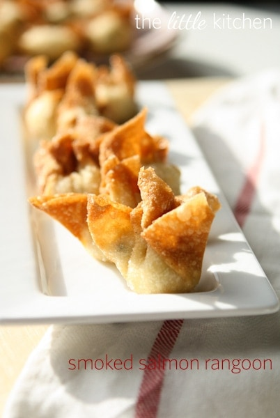 Smoked Salmon Rangoon vertical