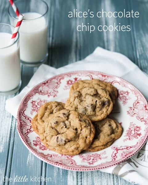 Alice's Chocolate Chip Cookies from the little kitchen