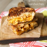 BBQ Chicken Grilled Cheese Sandwiches from TheLittleKitchen.net