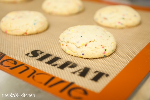 Brown Butter Funfetti Sugar Cookies done silpat
