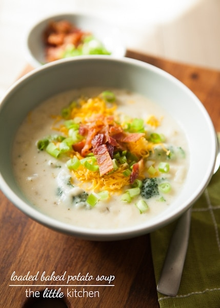 Loaded Baked Potato Soup Recipe | the little kitchen