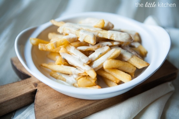 Brown Butter Gorgonzola Fries Recipe | the little kitchen