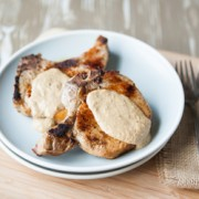 Pork Chops with Parmesan Sage Sauce Recipe
