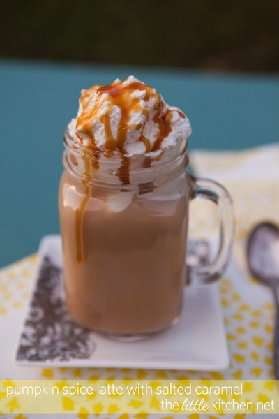 Pumpkin Spice Latte with Salted Caramel | The Little Kitchen