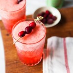 Cranberry Pear Rum Cooler Recipe