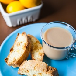 Meyer Lemon and White Chocolate Biscotti from The Little Kitchen