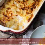 Three Cheese Scalloped Potatoes from thelittlekitchen.net