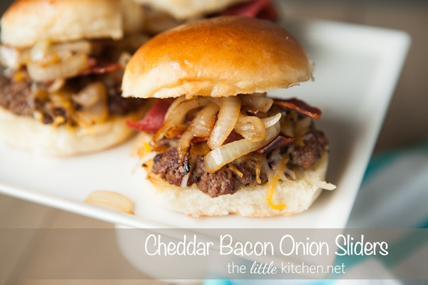 Cheddar Bacon Onion Sliders