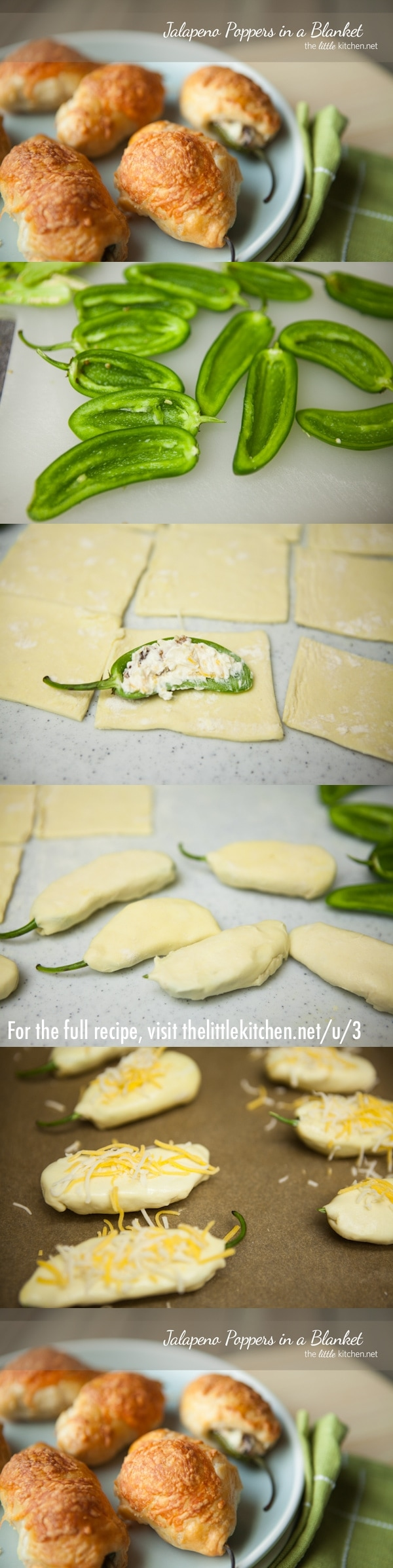 Jalapeno Poppers in a Blanket from thelittlekitchen.net