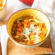 Pantry Vegetable and Pasta Soup