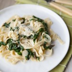 Fettuccine with Swiss Chard