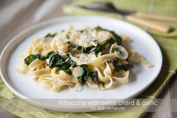Fettuccine with Swiss Chard from The Little Kitchen
