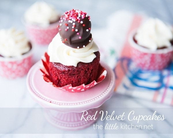 Red Velvet Cupcakes from The Little Kitchen