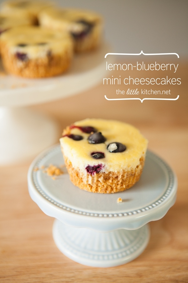 Lemon-Blueberry Mini Cheesecakes Recipe | the little kitchen