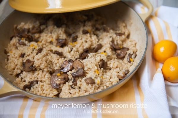 Meyer Lemon and Mushroom Risotto