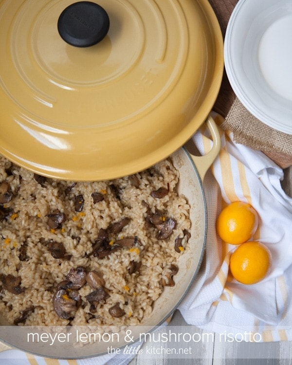 Meyer Lemon and Mushroom Risotto from The Little Kitchen