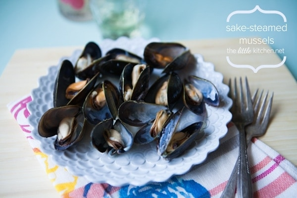 Sake-Steamed Mussels Recipe | The Little Kitchen