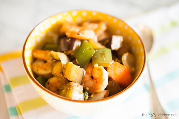 Shrimp and Eggplant Stir Fry