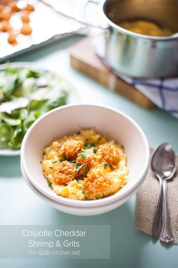 Chipotle Cheddar Shrimp & Grits
