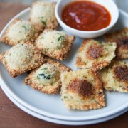Baked or Fried Ravioli from thelittlekitchen.net
