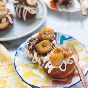 Funky Monkey Doughnuts Inpsired by Gourdough's from thelittlekitchen.net