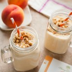 Brown Butter Peach Milkshakes from thelittlekitchen.net