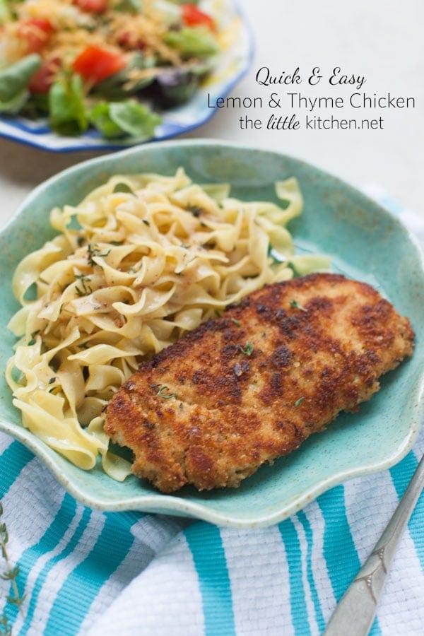 Lemon & Thyme Chicken from thelittlekitchen.net
