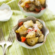 Warm Potato Pesto Salad from thelittlekitchen.net